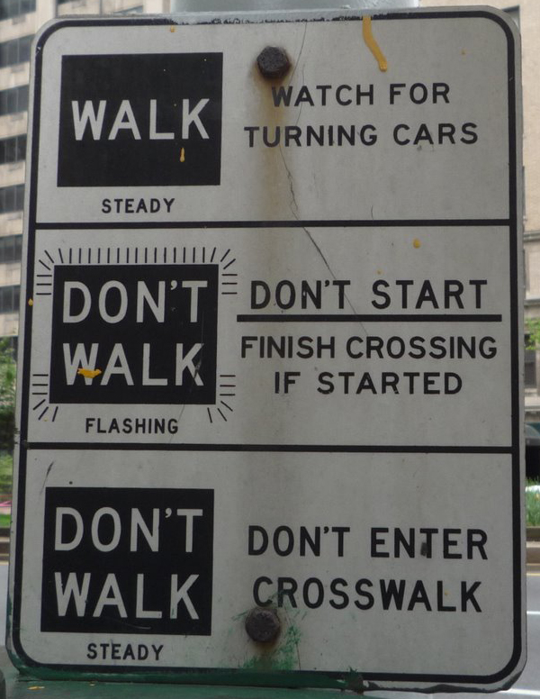 Walk Don't Walk Sign