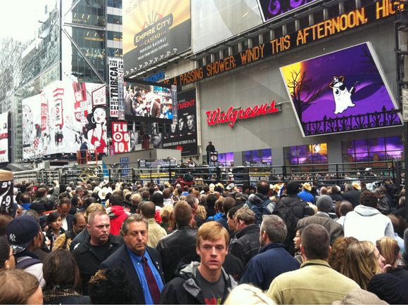 Bullriding in Times Square